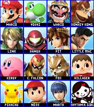 Smash Game Roster