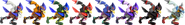SSBRiot Falco Color Palettes