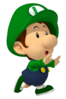 Baby luigi runs away from a transparent background by babyluigionfire-d8lmewt