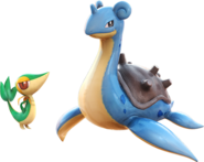 Pokken Snivy and Lapras