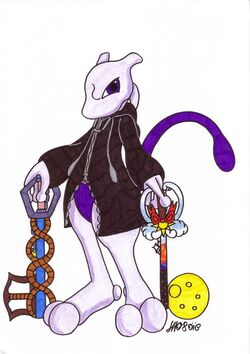 Mewtwo with Keyblades