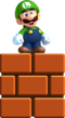Mini Luigi Artwork - New Super Luigi U