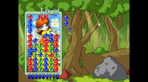 Super Mario Puyo Pop - Singleplayer - Daisy Gameplay