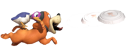 0.15.Duck Hunt Dog Throwing a Clay Pigeon