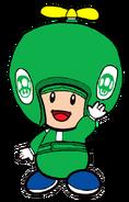 2D Propeller Green Toad