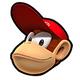 Diddy Kong MKSR Icon