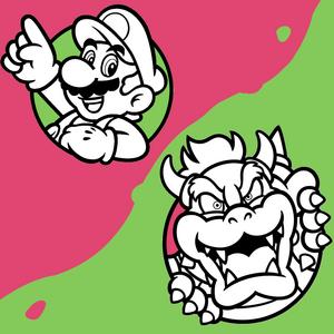 Mario vs Bowser