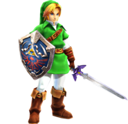 Adult Link (Hyrule Warriors) Hylians shield and Master Sword Update