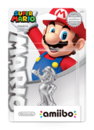Amiibo - SM - Mario Silver Edition - Box