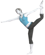 0.9.Female Wii Fit Trainer's Dancer Pose