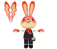 Arcad bunny asserting dominance