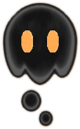 Black lava bubble