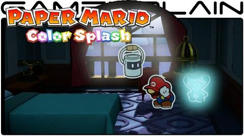 10 Minutes of Paper Mario Color Splash Gameplay - Dark Bloo Inn (Direct Feed - SDCC)