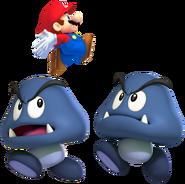 2 Cave Goombas & Mini Mario