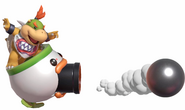 4.6. Bowser Jr's Clown Car shooting a cannonball