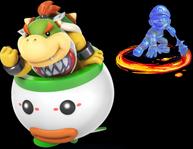 Bowser Jr and Shadow Mario