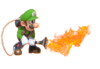 6.Luigi using his Poltergust for Fire