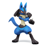Lucario SSB4 Artwork
