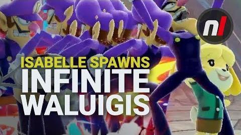 Smash Ultimate Isabelle Glitch Spawns Infinite Waluigis