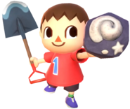0.9.Red Villager showing a Fossil