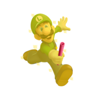 Gold Luigi by william edwards63631