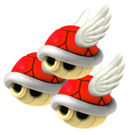 Triple Flying Red Shell