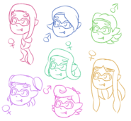 Squid Kid Hair