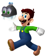Luigi walking with helmer