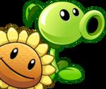 Peashooter & Sunflower Pair