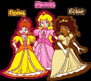 Peach, Daisy, and Eclair