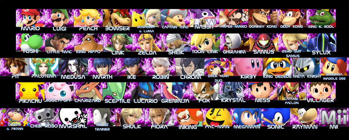 Smash Roster Icons Starters