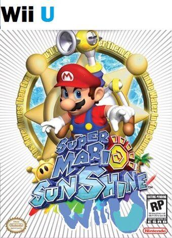 mario sunshine wii-cover game!
