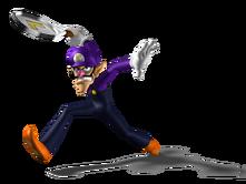 799px-Waluigi Artwork - Mario Power Tennis