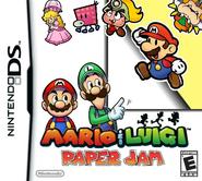 MARIO AND LUIGI PAPER JAM NINTENDO DS DEMAKE BOX ART