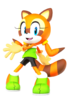 Marine the raccoon sonic rush adventure pose 3d by nibrocrock-d7jqlfi