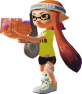 Inkling using a Splattershot Jr. - Splatoon