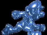 Blue Silver Luigi