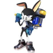 Custom hero grey the rabbit by nibroc rock-dbwq50i