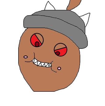 Fake acorn pinata