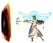 0.11.Palutena using her Reflect Barrier