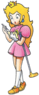Artwork of Princess Peach, from Mario Golf on the Nintendo 64.