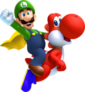 Cape Luigi and Red Yoshi