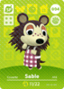 Ac amiibo card sable