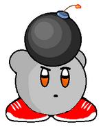 Bombert holding Bomb