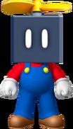Mario with a Propeller Block
