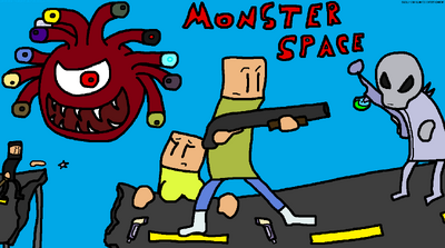 Monster Space Title