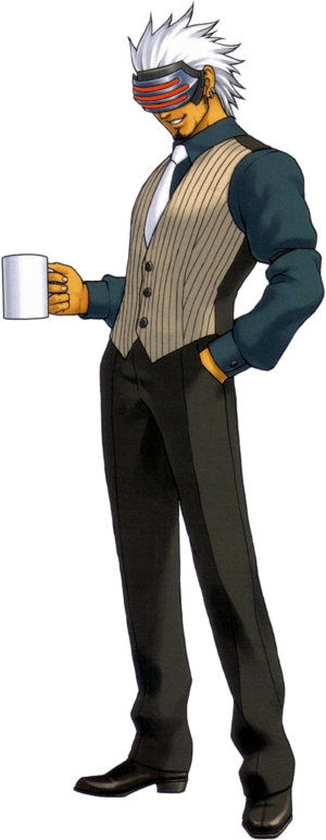 Godot majestically holding a cup of coffee
