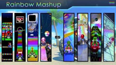 Mario Kart 8 Rainbow Road Mashup Mix - Across Generations 8 Themes In One