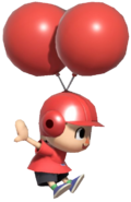 0.10.Red Villager flying with Balloons