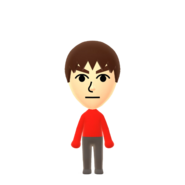 The default Male mii from the Nintendo Switch